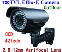 Wholesale 1 inch SONY Effio E CCD TVL mm leds IR Waterproof Outdoor CCTV Camera OSD