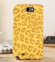Plastic For Apple iPhone For Christmas Top Quality Leopard Print Extra Thin 4 Colors Leather Case for Samsung Galaxy Note 2 II N7100