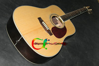 Wholesale Hot selling D40 beige wooded strings natural Acoustic Electric Guitar with Fishman