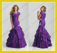 Reference Images Square Elastic Satin Short Sleeves 2013 Modest A-Line Square Corset Bodice Prom Dresses Sexy Layered Beaded Evening Gowns