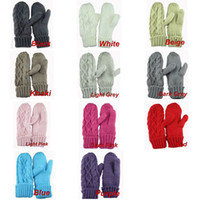Wholesale 200pairs Ladies Knitting Twisted Winter Mittens Gloves