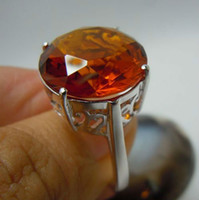 Party amber the band - Free delivery of the Victorian era carving hollow out the oval amber stone silver ring