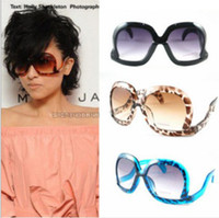 bend plastic frames - Fashion women lady Multicolor leopard grain big sunglasses bent leg square sun glasses jewelry