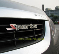 Wholesale Sport sports metal in net alias stainless steel refires car stickers emblem nameplate
