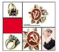 Women's axe band - Min Order MIX ORDER Hot Punk Soviet sickle symbol axe to restore ancient ways stars revolutio