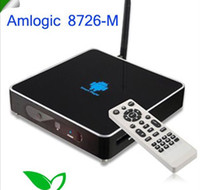 Wholesale New by DHL Google tv box TV SET TOP BOX GV DDR2 MB Amlogic M MHz Cortex A9 Android