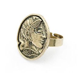 Wholesale Min order is mixed order The Vintage of Ancient Greek goddess amp Queen s head Coin Cameo Rings fr