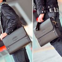 Wholesale PJ Polo Men s Shoulder Bags Messenger Briefcase Leather Bag Bookbag BG65