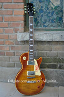 Wholesale custom shop standard guitar one piece neck Tiger Flame top Electric guitar New Style