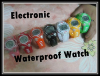 Wholesale waterproof electronic watch Unisex Plastic Wristwatches colorful Luxury Fashion Lady Man