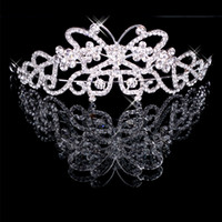 Rhinestone/Crystal Crown  Silver crystals rhinestones bridal crown wedding tiaras hair accessory