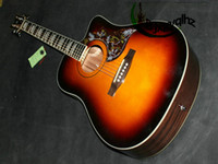 Wholesale On sales Acoustic guitar birds guitar in Sunburst