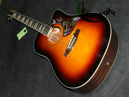 On sales Acoustic guitar birds guitar in Sunburst Free shipping