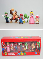 Wholesale Super Mario Figure PVC Super Mario Bros FIGURE set High Quality In Box