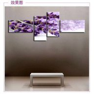 Cheap Floral Art Elegant Lavender tree of life wall Painting Oil Modern Canvas printing home decoration gi