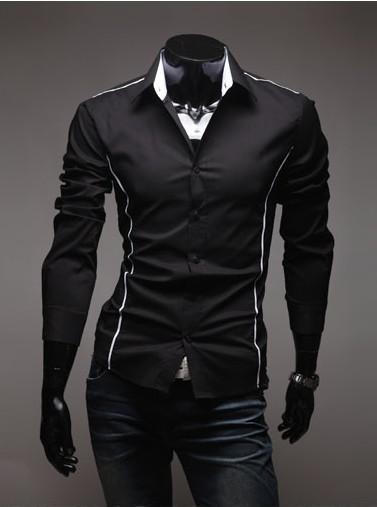 2017 Men Black Shirt Men Stylish Shirt Fashion Casual Designer For ...