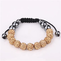 Wholesale diamonds Fashion Cheap Crystal Ball Shamballa Bracelet S126