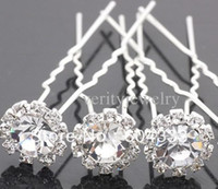 Wholesale New Clear Crystal Hair Pin Bridal Pins Wedding Jewelry Hair Ornaments Accessories