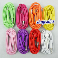 Wholesale Headphone In ear Earphone headset for iphone4 with Mic Microphone cheapest