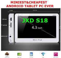 Wholesale 20pcs Cheap sales original JXD S18 quot Resistive Screen Pocket Android OS gb Pad Tablet PC PB7 B4