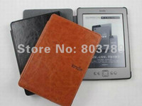 Wholesale Kindle case PU Leather pouch for Amazon ebook retail and freeshipping