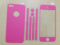 Wholesale 100pcs Full Body Color Colour Leather Sticker Screen Protector For iphone G