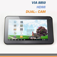 Wholesale WM8850 inch Tablet PC Android VIA8850 with HDMI Dual Cameras GHz Multi Color