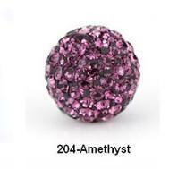 Free shipping Purple 10mm Micro 3k2j Pave CZ Disco Ball Crystal Bead.Best bead jewelry.