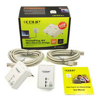 Wholesale 200Mbps Original EDUP PLC5511 Power Line Network Adapter Starter Kit Plug Ethernet Adapter Homeplug