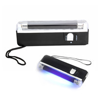 Wholesale 200 In UV Black Light Handheld Torch Portable Fake Money ID Detector Lamp Tool
