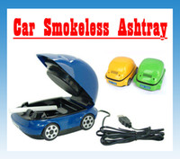 plastic air jar - Air Purifier Smokeless Ashtray for Car Tobacco Jar USB Dry Battery