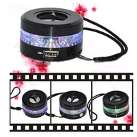 Wholesale Portable Mini Speaker With FM Radio With LED Display Screen Rechargeable Cylinder Speaker USB Input