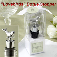 Wholesale 100pieces Wedding Favors Love Bird Bottle Wine Stopper Gift