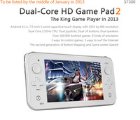 Wholesale JXD S7300 s7300c game player inch dual core A9 g1 GHZ HD pad tablet andriod GB DDRwifi G Camera