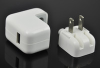Wholesale 100pcs W A Home Wall AC USB US Charger Adapter For ipad mini iphone