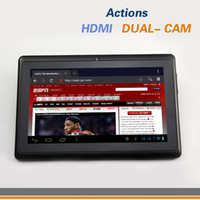 Wholesale 7 inch Android Tablet PC Actions A13 Dual Cam HDMI GHz MB GB