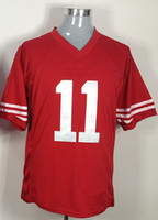 Jerseys Men  #11 SMITH Red Fans Style Game Men Jerseys Football Jersey Rugby Ball Jerseys Size S~3XL