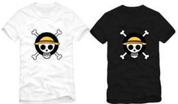 Free shipping new arrival Japanese anime One Piece logo Anime T-Shirt Tee Monkey D Luffy Flag Tee 100% cotton 6 colors size: S-XXXL