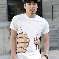 clothing men women - new arrival Top Quality big Hand t shirt Man women clothes Printing Hot D t shirt mens tshirt cotton S XXXL color