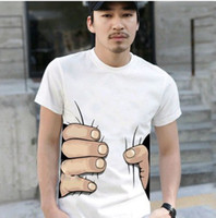 Wholesale big Hand t shirt Man women clothes Printing Hot D t shirt cotton S XXXL