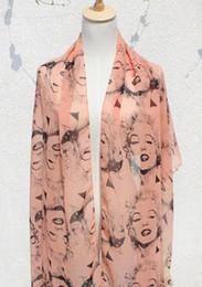 Marilyn Monroe de la vendimia del estilo todo-fósforo de las señoras de la bufanda de gasa bufanda de mezcla 5 colores 6pcs