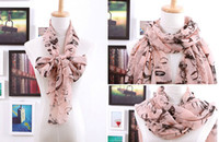Wholesale 2013 new style foreign trade Marilyn Monroe pattern chiffon silk scarf mix colors