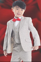 Wholesale New High quality Gray Boys Suit Boys Formal Occasion Suit