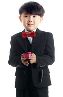 Wholesale New High quality Black Boys Suit Boys Formal Occasion Suit Three piece suit