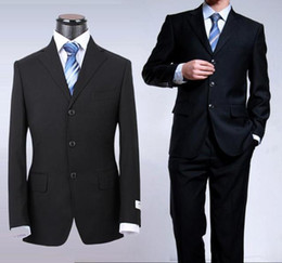 Wholesale NEW High quality Black Blue Men s Suits Groom Wear amp Accessories groom suits Groom Tuxedos