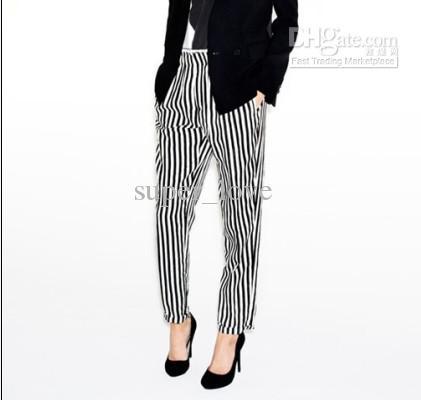 ������ ���� ���� ����� 2014 2013-new-fashion-black-white-striped-trousers.jpg