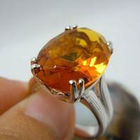 amber stone ring - Free delivery of the Victorian era of oval amber stone silver ring
