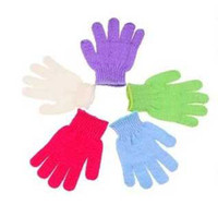 bath brush towelling - Bathing Shower Gloves Massage Gloves Cleaning Towel bath Shower Brushes T7249