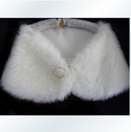 Wholesale New White Faux Fur Stole Shrug Bolero Coat Bridal Shawl