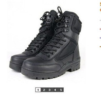 Ankle Boots Men PU SWAT11 models black police boots, hiking boots outdoors